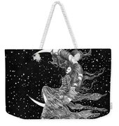 Woman In The Moon Weekender Tote Bag