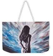 Woman In The Moonlight Weekender Tote Bag