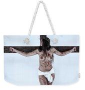 Woman Jesus On Cross I Weekender Tote Bag