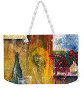 Woman Near Window  Weekender Tote Bag