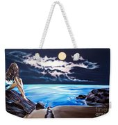 Woman On A Cliff And The Beautiful See Weekender Tote Bag