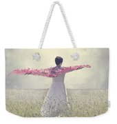 Woman On A Lawn Weekender Tote Bag