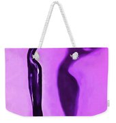 Woman On Pedestal Weekender Tote Bag