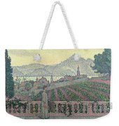 Woman On The Terrace Weekender Tote Bag