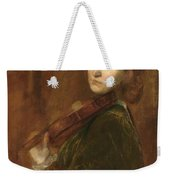 Woman Playing Violin Weekender Tote Bag