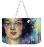 Woman  Portrait 2 Weekender Tote Bag