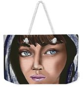 Woman Portrait Weekender Tote Bag