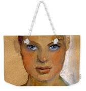 Woman Portrait Sketch Weekender Tote Bag by Svetlana Novikova