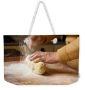 Woman Preparing Dough For Kopytka Weekender Tote Bag
