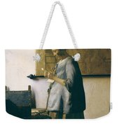 Woman Reading A Letter Weekender Tote Bag