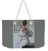 Woman Sat In A Gallery Weekender Tote Bag