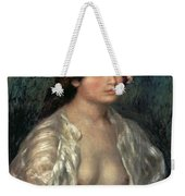 Woman Semi Nude Weekender Tote Bag
