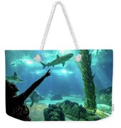 Woman Shark Enjoyng Weekender Tote Bag