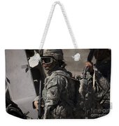 Woman Soldier Conducts A Combat Weekender Tote Bag