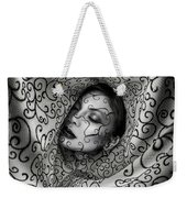 Woman Surrounded By Cloth Of Paisley Prints Weekender Tote Bag