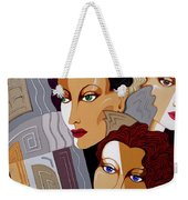 Woman Times Three Weekender Tote Bag