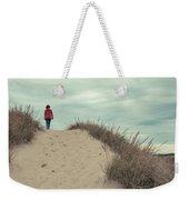 Woman Walking In The Dunes Of Cape Cod Weekender Tote Bag