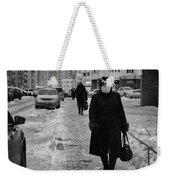 Woman Walking On Path In Russia Weekender Tote Bag