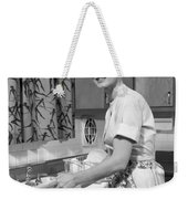 Woman Washing Dishes, C.1960s Weekender Tote Bag