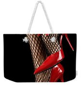 Woman Wearing Red Sexy High Heels Weekender Tote Bag