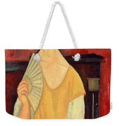 Woman With A Fan Weekender Tote Bag by Amedeo Modigliani
