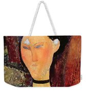 Woman With A Velvet Neckband Weekender Tote Bag
