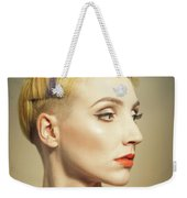 Woman With An Edgy Hairstyle Weekender Tote Bag