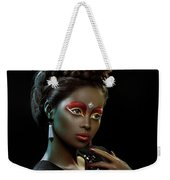 Woman With Beehive Hairstyle And Jewelry Headdress Weekender Tote Bag