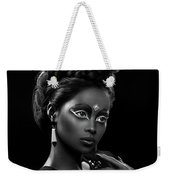 Woman With Beehive Hairstyle And Jewelry Headdress Owner Weekender Tote Bag