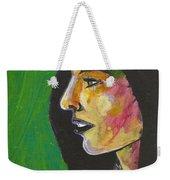 Woman With Black Lipstick Weekender Tote Bag