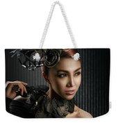 Woman With Black Metallic Headdress Weekender Tote Bag