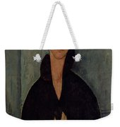 Woman With Blue Eyes Weekender Tote Bag by Amedeo Modigliani