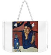 Woman With Coffee Femme Au Cafe Weekender Tote Bag