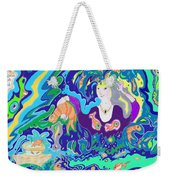 Woman With Fish Weekender Tote Bag
