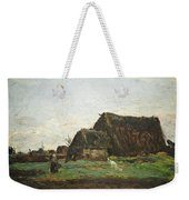 Woman With Goat Weekender Tote Bag