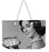Woman With Pie, C.1950-60s Weekender Tote Bag