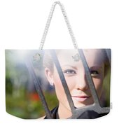 Woman With Pitchfork Weekender Tote Bag