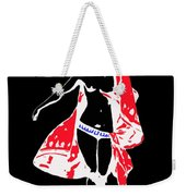 Woman With Red Cape - And Not Much Else Weekender Tote Bag
