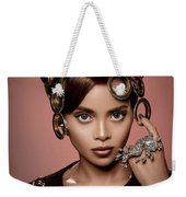 Woman With Ring Headdress And Bouffant Hairstyle Weekender Tote Bag