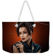 Woman With Twig Headdress And Oriental Look Weekender Tote Bag