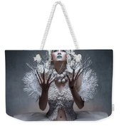 Woman With Twigs For Nails Weekender Tote Bag