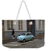 Woman With Umbrella Weekender Tote Bag