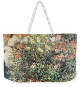 Women In The Flowers Weekender Tote Bag by Claude Monet