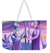 Women Pounding Cassava Weekender Tote Bag