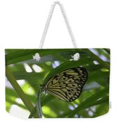 Wonderful Look At A Tree Nymph Butterfly In Foliage Weekender Tote Bag
