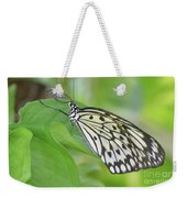 Wonderful Up Close Look At A Large Tree Nymph Butterfly Weekender Tote Bag