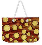 Wood And Gold Weekender Tote Bag