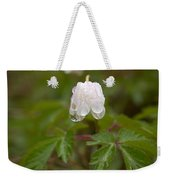 Wood Anemone Heavy From The Rain Weekender Tote Bag