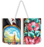 Wood Bottle Case Weekender Tote Bag