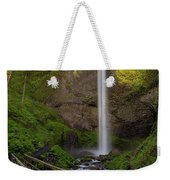 Wood Bridge At Latourell Falls Weekender Tote Bag
